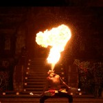 Fire dancer entertainment bali