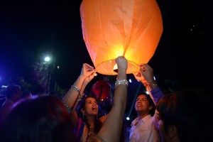 Wishing Lantern Release for the New couple
