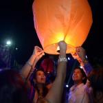 release the sky lantern