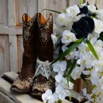 boots and denim wedding theme