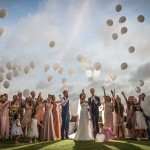 Baloon release wedding