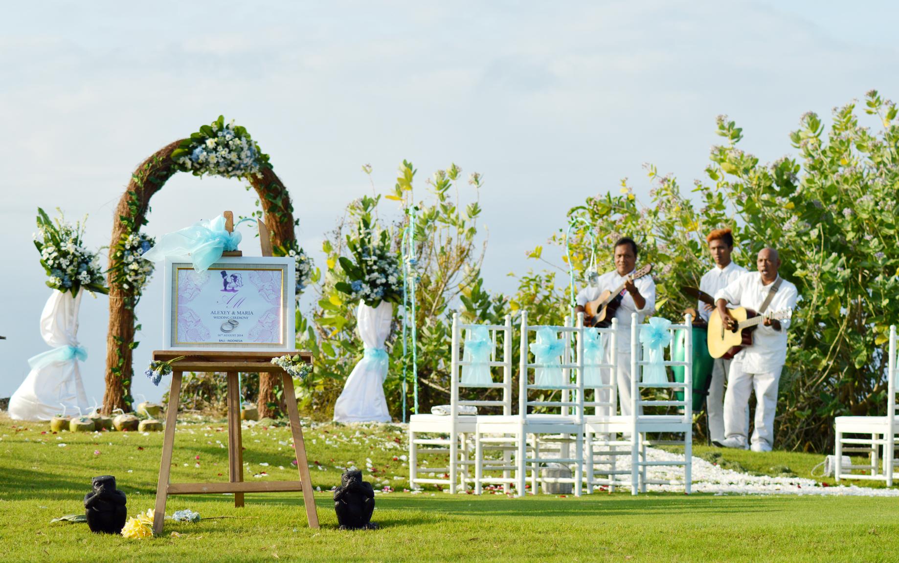 front beach garden wedding ceremony | Bali Event and Wedding Planner
