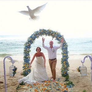 experience wedding in natural sand beach with us